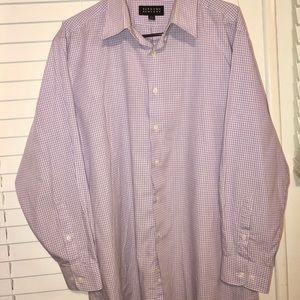 Men's Bergamo New York purple button down